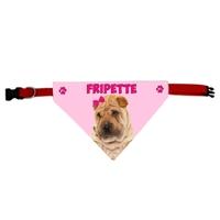 Collier bandana chien Shar pei personnalisé avec le nom de votre animal