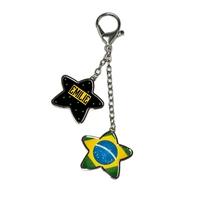 Bijou pour sac à main Brésil personnalisé avec prénom