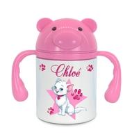 Gourde pour enfant Chat de princesse personnalisée avec prénom