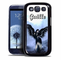 Coque samsung galaxy S4 S5 S6 S7 S8 S9 Ange gothique personnalisée avec prénom