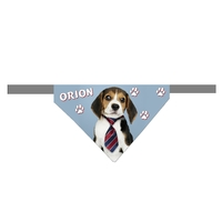 Bandana scratch pour chien Beagle personnalisé avec le nom de votre animal