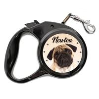 Laisse chien Carlin personnalisée avec le nom de votre animal