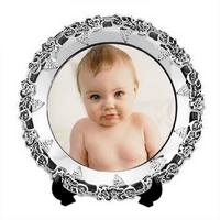 Assiette de décoration / trophée en aluminium personnalisée avec votre photo
