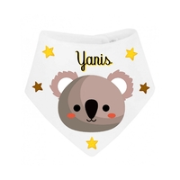Bavoir bébé bandana Koala personnalisé avec prénom