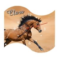 Pendule murale Cheval personnalisée avec prénom au choix