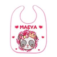 Bavoir bébé Panda princesse personnalisé avec prénom