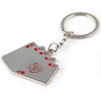 Porte-clés Casino Cartes Poker en métal