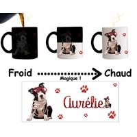 Mug tasse magique Chien chiot personnalisé avec prénom