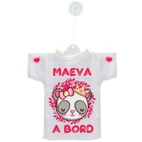 Mini tee shirt voiture Bébé à bord Panda personnalisé avec prénom