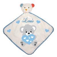 Doudou bébé Ourson personnalisé avec prénom