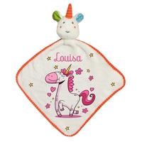 Doudou bébé Licorne personnalisé avec prénom