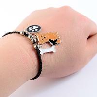 Bracelet fantaisie corde Chien Yorkshire