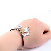 Bracelet fantaisie corde Chien Jack russel