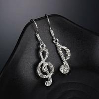 Boucles d'oreilles pendantes Musique