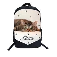 Cartable Sac à dos Chat chaton personnalisé avec prénom