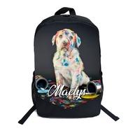 Cartable Sac à dos Chiot chien personnalisé avec prénom