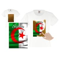 Tee shirt fille magique sequins Algérie personnalisé avec prénom