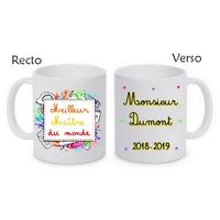 Mug tasse céramique Meilleur Maître personnalisé avec nom de l'instituteur