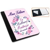 Pochette Porte bloc-notes Meilleure maîtresse personnalisé avec nom de l'instit