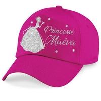 Casquette enfant Paillettes Princesse personnalisée avec prénom