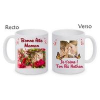 Mug (tasse) Maman Fête des mères personnalisé avec votre photo et votre texte