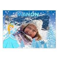 Princesse des neiges...Puzzle personnalisé montage photo, prénom, texte.....