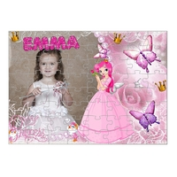 Jolie Princesse...Puzzle personnalisé montage photo, prénom, texte.....