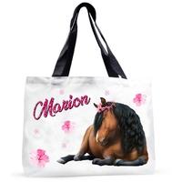 Grand sac cabas Cheval personnalisé avec prénom