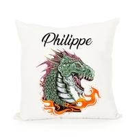 Coussin Dragon personnalisé avec prénom au choix
