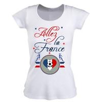 Tee shirt femme France Football féminin