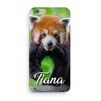 Coque Panda roux 3D Iphone 5/6/7/8/X/XR/XS personnalisée avec prénom