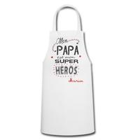 Tablier de cuisine Mon papa est mon super héros personnalisé avec prénom