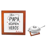Dessous de plat Mon papa est mon super héros personnalisé avec prénom