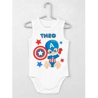 Body bébé débardeur Super héros personnalisé avec le prénom de votre choix