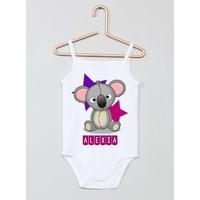 Body bébé débardeur Koala personnalisé avec le prénom de votre choix
