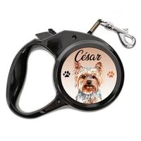 Laisse chien Yorkshire personnalisée avec le nom de votre animal