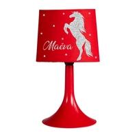 Lampe de chevet ou de bureau Cheval personnalisée avec prénom