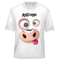 Tee shirt enfant Animal rigolo personnalisé avec prénom