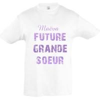 Tee shirt Future grande soeur personnalisé avec prénom **coloris au choix