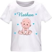 Tee shirt bébé garçon personnalisé avec le prénom de votre choix