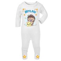 Pyjama bébé Hérisson personnalisé avec le prénom de votre choix