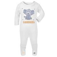 Pyjama bébé Eléphant personnalisé avec le prénom de votre choix