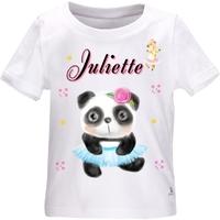 Tee shirt bébé Animaux ballet personnalisé avec le prénom de votre choix