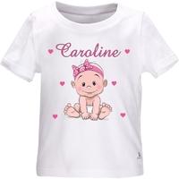 Tee shirt bébé Fille personnalisé avec le prénom de votre choix