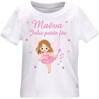 Tee shirt bébé Fée personnalisé avec le prénom de votre choix