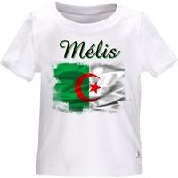 Tee shirt bébé Algérie personnalisé avec le prénom de votre choix