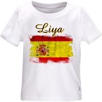 Tee shirt bébé Espagne personnalisé avec le prénom de votre choix