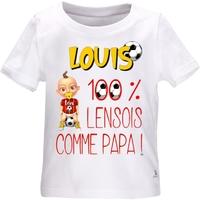 Tee shirt bébé Football LENS comme papa personnalisé avec le prénom de votre choix