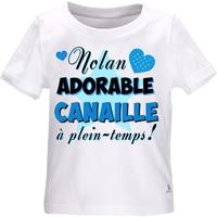 Tee shirt bébé Adorable canaille personnalisé avec le prénom de votre choix