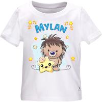 Tee shirt bébé Hérisson personnalisé avec le prénom de votre choix